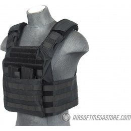 Lancer Tactical 1000D Attack MOLLE Plate Carrier V2 - BLACK