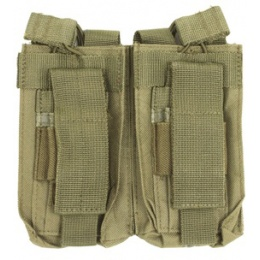 NcSTAR MOLLE Double Rifle Pistol Magazine Pouches - OD