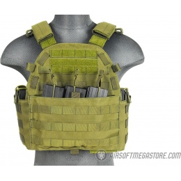 Lancer Tactical 1000D Nylon Airsoft MOLLE Tactical Vest (OD Green)