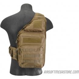 Lancer Tactical 1000D Nylon Airsoft Messenger Shoulder Bag - TAN
