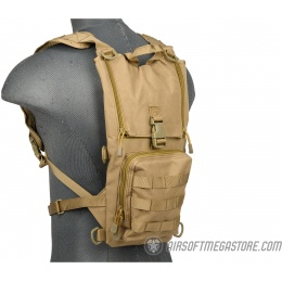 Lancer Tactical 1000D Nylon Airsoft Lightweight Hydration Backpack - TAN
