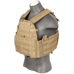 Lancer Tactical 69T4 1000D Nylon Plate Carrier - TAN