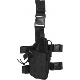 Lancer Tactical Tornado Dropleg Airsoft Pistol Holster - BLACK