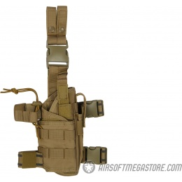 Lancer Tactical Tornado Dropleg Airsoft Pistol Holster - TAN