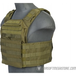 Lancer Tactical 1000D Nylon S.A.P.C. Airsoft Tactical Vest (OD Green)