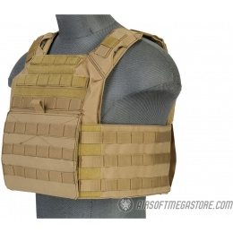 Lancer Tactical 1000D Nylon S.A.P.C. Airsoft Tactical Vest (Tan)
