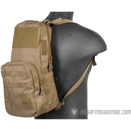 Lancer Tactical 1000D Nylon Airsoft MOLLE Hydration Backpack - TAN