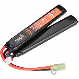 Lancer Tactical 20C 7.4V 2000 mAh Butterfly Lipo Battery - BLACK