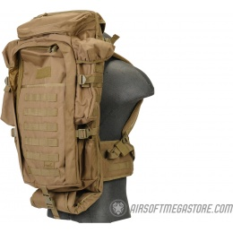 Lancer Tactical 1000D Nylon Airsoft Rifle Backpack - KHAKI