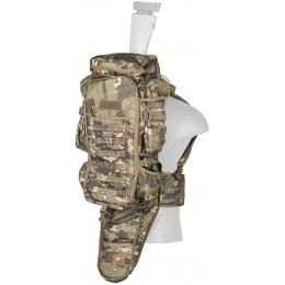Lancer Tactical 1000D Nylon Heavy Arms Rifle Carry Backpack - CAMO TROPIC