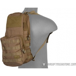Lancer Tactical 1000D Nylon Airsoft MOLLE Hydration Backpack - KHAKI