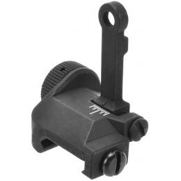 CM-M053 M16A4 Flip-Up Style Rear Iron Sights - BLACK
