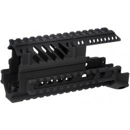 CM-C04 AK47 Airsoft X47 CNC Aluminum  Quad RIS Handguard - BLACK