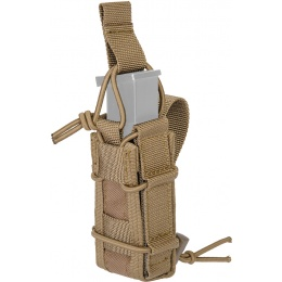 Lancer Tactical Airsoft Single Pistol Magazine Pouch - TAN