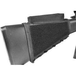 NcStar Tactical Stock Riser w/ Integrated Mag Pouch - BLACK