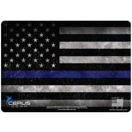 Cerus Gear Line Lives Matter Promat Blue Line Pistol Mat - FULL COLOR