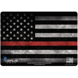 Cerus Gear Line Lives Matter Promat Red Line Pistol Mat - FULL COLOR