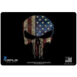 Cerus Gear Reaper Skull Promat Pistol Mat - US FLAG
