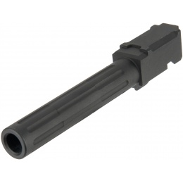 Aluminum Fluted Airsoft Outer Barrel for TM G17 Series - BLACK