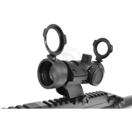 NcStar 5-Level Intensity 1x30 Red & Green Dot Scope - BLACK