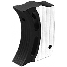 Airsoft Masterpiece Aluminum Trigger Type 1 for Hi-Capa Airsoft Pistols - SILVER/BLACK