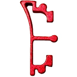 Airsoft Masterpiece Aluminum Puzzle Front Enos Trigger - RED
