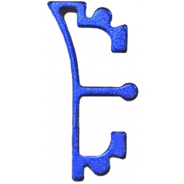 Airsoft Masterpiece Aluminum Puzzle Front Enos Trigger - BLUE