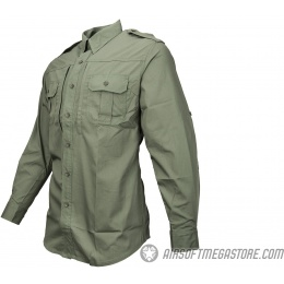 Propper Ripstop Reinforced Tactical Long-Sleeve Shirt (LARGE) - OD GREEN