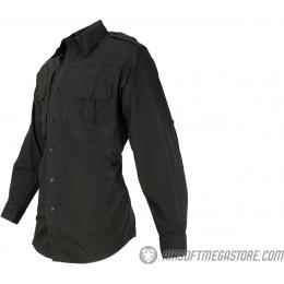 Propper Ripstop Reinforced Tactical Long-Sleeve Shirt (MEDIUM) - BLACK