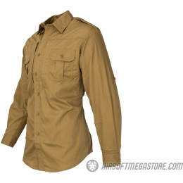 Propper Ripstop Reinforced Tactical Long-Sleeve Shirt (LARGE) - COYOTE BROWN