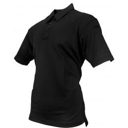 Propper Men's I.C.E. Performance Short Sleeve Polo (LARGE) - BLACK