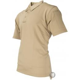 Propper Men's I.C.E. Performance Short Sleeve Polo (LARGE) - SILVER TAN