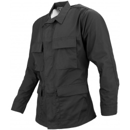 Propper Poly/Cotton Ripstop Mil-Spec Four Pocket BDU Coat (Medium) - BLACK
