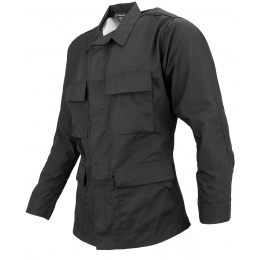Propper Poly/Cotton Ripstop Mil-Spec Four Pocket BDU Coat (Large) - BLACK