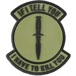 G-Force If I Tell You I have To Kill You PVC Patch