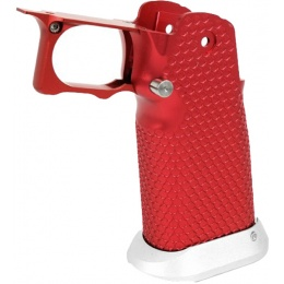 Airsoft Masterpiece Aluminum Grip for Hi-Capa Airsoft Pistols Type 3 - RED