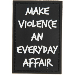 G-Force Make Violence an Everyday Affair PVC Morale Patch