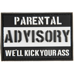 G-Force Parental Advisory: We'll Kick Your Ass PVC Morale Patch