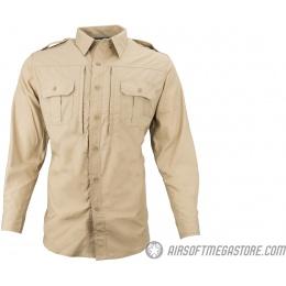 Propper Ripstop Reinforced Tactical Long-Sleeve Shirt (MEDIUM) - KHAKI