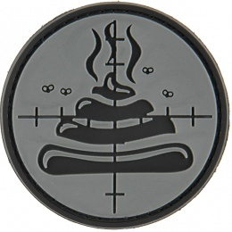 G-Force Shi**y Aim PVC Morale Patch - GRAY