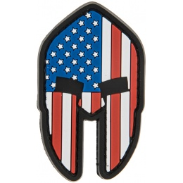 G-Force American Spartan PVC Morale Patch - RED/WHITE/BLUE