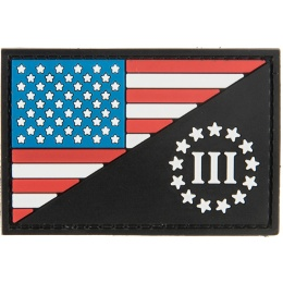 G-Force US Flag with Three Percenter PVC Morale Patch