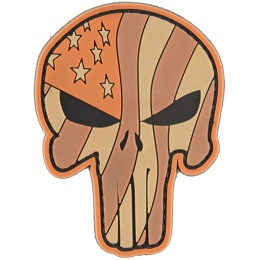 G-Force Waving US Flag Punisher PVC Morale Patch. 8*6 cm