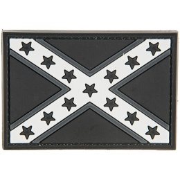 G-Force Confederate Flag PVC Morale Patch - BLACK