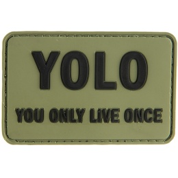G-Force You Only Live Once PVC Morale Patch PVC Morale Patch - OD GREEN