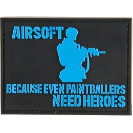 G-Force Paintball Needs Heroes PVC Morale Patch - BLACK / BLUE