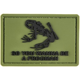 G-Force Frogman Patch PVC Morale Patch - GREEN