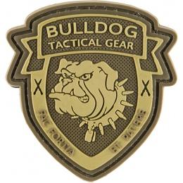 G-Force Shield Bulldog Patch PVC Morale Patch - BROWN