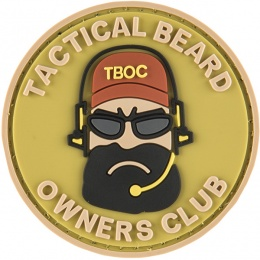 G-Force Tactical Beard Owners Club PVC Morale Patch - TAN