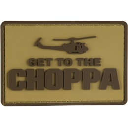 G-Force Get to the Choppa Patch PVC Morale Patch - TAN